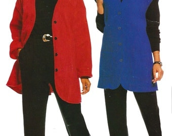 2000 Jacket Pattern Vest Pull -On Pants Easy McCall's Uncut Sewing Women's Misses Size 10 - 16 Bust 32. 5 - 38 Inches
