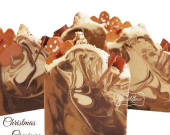 Christmas Cravings Handmade Vegan Artisan Soap/Christmas/Gingerbread Man
