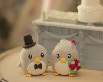 penguin cake topper---Special Edition (K212),penguin wedding cake topper