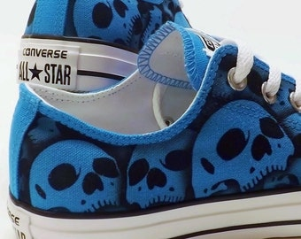 RokGear unique painted skull shoes All Stars made to order