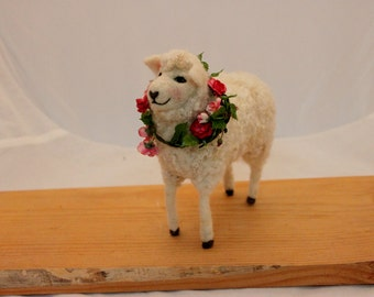 Sheep, Needlefelted   Sheep, Felted White Sheep # 2333