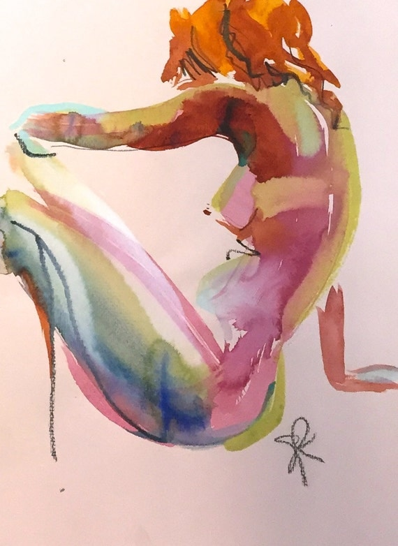 Nude painting#1351  Original painting by Gretchen Kelly