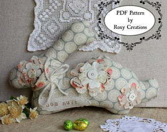 Pdf sewing pattern bunny rabbit pillow