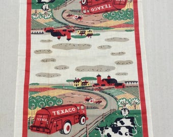 Vintage Startex Texaco Towel Trust Your Farm to the Man Who Wears the Star