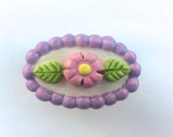 Lavender Pink Knob, Pink Flower Knob, Lavender Knob, Flower Drawer Pull, Nursery Knob, Furniture Knob, Dresser Drawer Knob, Cabinet Pulls
