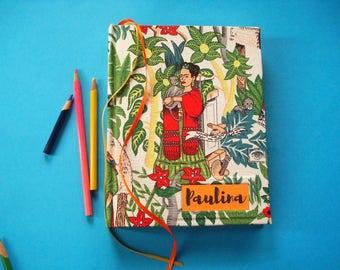 Custom Frida Sketchbook · Personalized Frida Journal · Frida Notebook · Frida Kahlo · Artist Notebook · Gift for Artist · Gift for Frida Fan