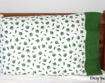 Snow Much Fun Flannel Pillow Case - Tree Toss