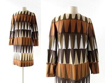 1960s Mod Dress | Tessellation | Op Art Dress | 60s Dress | Medium M