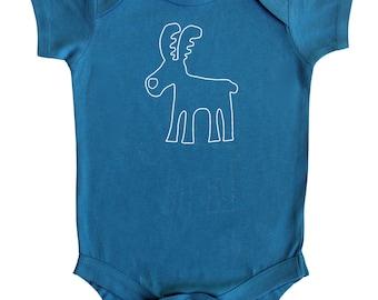 Nordic Moose Baby Bodysuit
