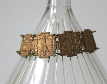 Vintage Paris Souvenir Bracelet,  French Travel Souvenir, Eiffel Tower and more!