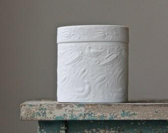 Rosenthal Studio Line Bisque Box, Bjorn Wiinblad Design, Scandinavian Modern, Matte White Porcelain Bisque, Trinket Box, Valentine's Day