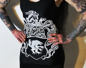 Satanic Warmaster Crest Mini Dress