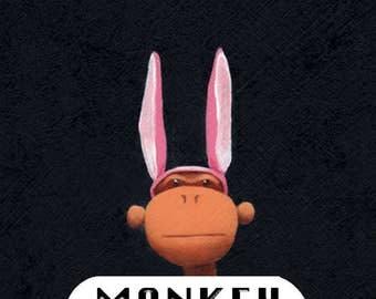 Monkey Six Pack notecards