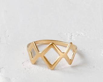 Tulum Ring, geometric stacking ring, Mexican style jewelry