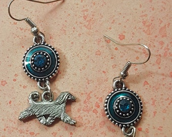 Afghan Hound Turquoise Sparkle Earrings