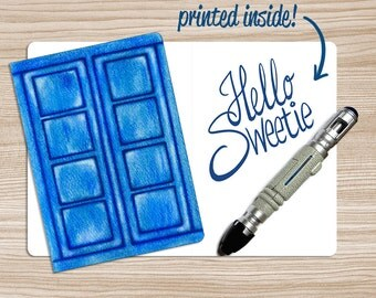 "Doctor Who ""Hello Sweetie"" River Song Greeting Card, Doctor Who Valentine's Card, Geek Valentine Card, Anniversary Card"