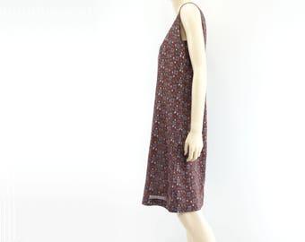 60s Sheath Dress 60s Floral Dress Wiggle Dress 60s Shift Dress 60s Dress Burgundy Dress Knee Length Dress m