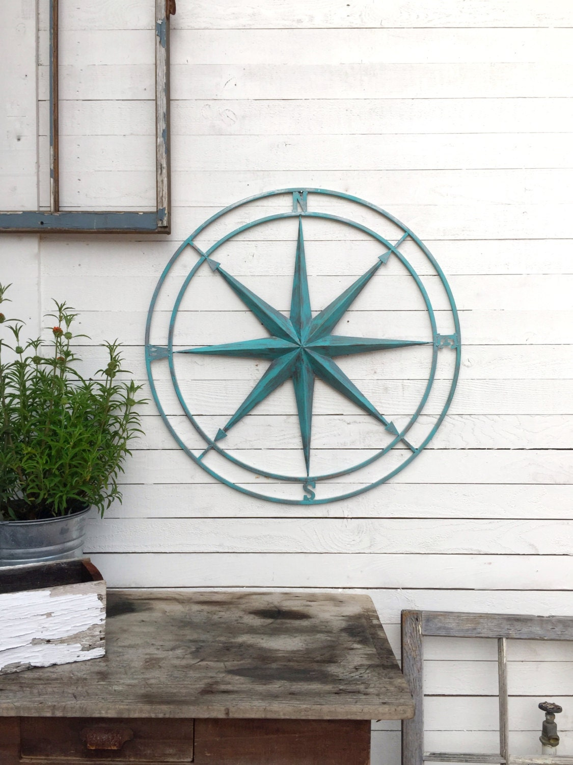 Nautical Wall Decor Compass Wall Art Metal Compass