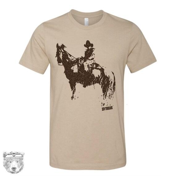 Mens COWBOY and HORSE t shirt  s m l xl xxl (+ Color Options)