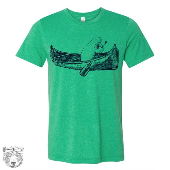 Mens MANATEE in a Canoe t shirt s m l xl xxl (+ Color Options)