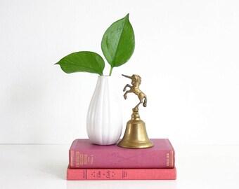 Vintage Brass Unicorn Bell / Mid Century Unicorn Figurine / Vintage Brass Bell / Vintage Brass Decor