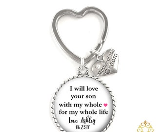 Mother of the Groom Key Chain Gift Style 720