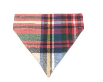 Pet Accessory - Plaid Flannel - Over the Collar - Custom - Bandana, Bow Tie, Neck Tie, Flower