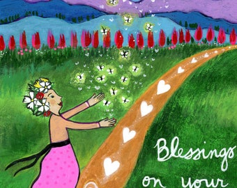 Print on Wood 8x10 : Blessings on Your Path