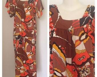 Vintage 60s muumuu maxi dress