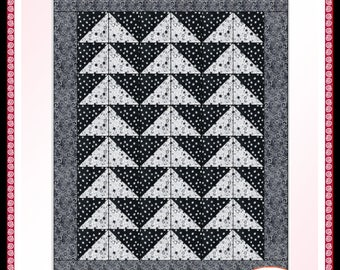 Downloadable Flying Geese Quilt Pattern Easy 3 Yard design