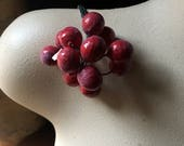 Cherry Cluster Spray Vintage for Bridal, Boutonnieres, Headpieces, Halos, Wreaths, Bouquets  ML