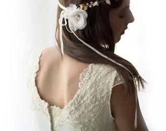 wedding hair vine, double hair vine, bridal vine, double headband, wedding headband, gold headband, wedding headpiece, gold vine crown,