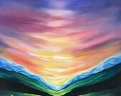 Northern Sunrise Painting - Alaska Tent Landscape Photo Print