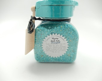 Fizzing Bath Salts, CHOOSE YOUR SCENT- Bath Salts, Bath Bomb, Fizzing Salts,Fairy Dust, Dead Sea Salt,Epsom Salt, 7 ounces plus wooden scoop