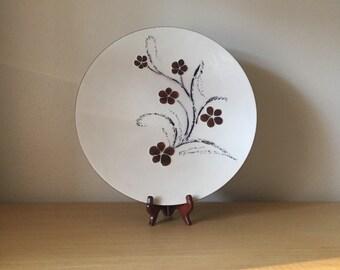 large mid century bovano enamel platter