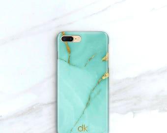 IPhone X Personalized Phone Case 8 Plus Aqua Marble 7