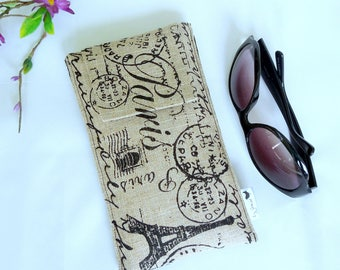 SALE Roomy Sunglasses Case in a Parisian Design