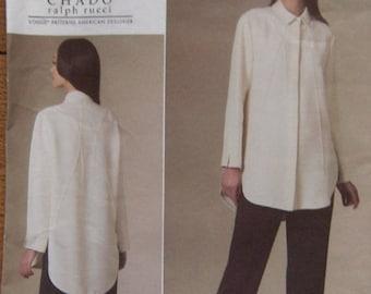 2010 vogue pattern 1215 misses shirt and pants CHADO Ralph Rucci sz 16-22 uncut