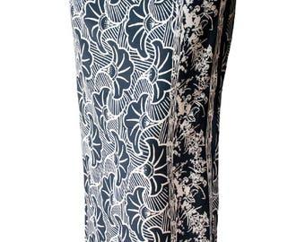 Beach Sarong Men's or Women's Wrap Skirt Gray & White Gingko Leaf Batik Sarong Beachwear - Swimsuit Coverup Surf Clothes Beach Wrap Pareo