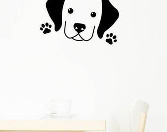 Cute Labrador Puppy Wall Decal