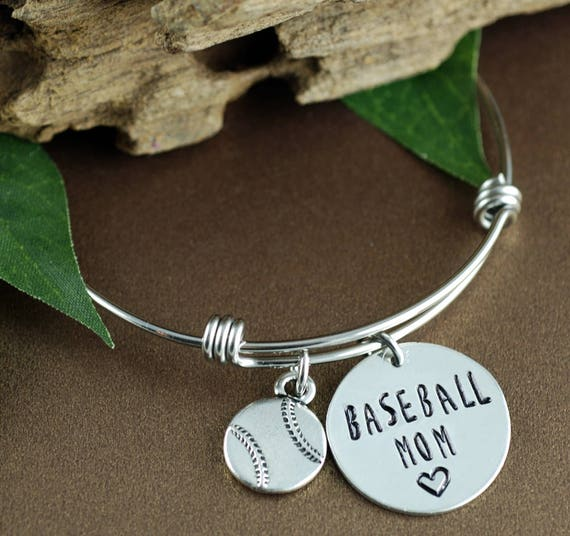 Baseball Mom Bracelet, Personalized Sports Bracelet, Mom Jewelry, Mothers Day Gift, Initial Bracelet, Baseball Jewelry, Team Mom Gift