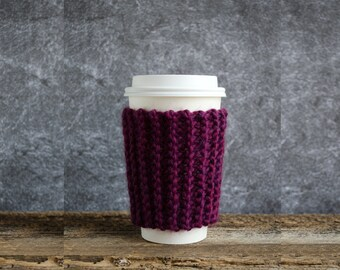 Cup Cozy, Coffee Gift, Coffee Cup Sleeve, Coffee Mug Cozy, Coffee Cozy, Tea Cozy, Coffee Sleeves, Chunky Knit, Coffee Cup Cozy Coffee Favors