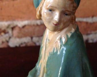 Flower Girl figurine vintage 1920s flower seller