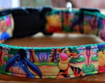 Winnie the Pooh dog collar & leash