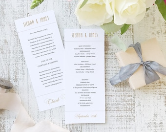 Instant Printable Wedding Program Template   INSTANT DOWNLOAD   Ticket   Flat Tea Length   Editable Colors   Mac or PC   Word & Pages