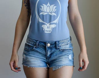 SALE Small Blue Lotus Stealie Leotard