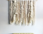 Woven Wall Hanging | Ivory and Neutral Fibers Weaving