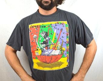 Vintage 1990 90s Bumbershoot Music Festival SEATTLE Tee Shirt Tshirt