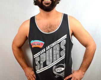 Vintage 90s NBA San Antonio Spurs Tank Top Shirt