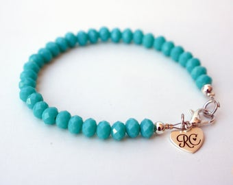 RC Signature Bracelet in Turquoise {Skinny}